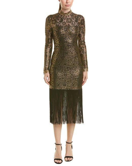 Rachel Zoe - Black Hunter Dress In Metallic Gold - Lyst