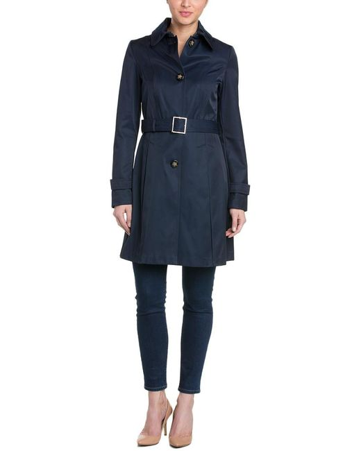 Laundry by Shelli Segal - Blue Belted Trench Coat - Lyst