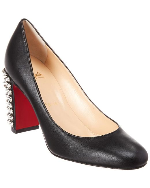 f8f2f55c755 Lyst - Christian Louboutin Marimalus 85 Leather Pumps in Black ...