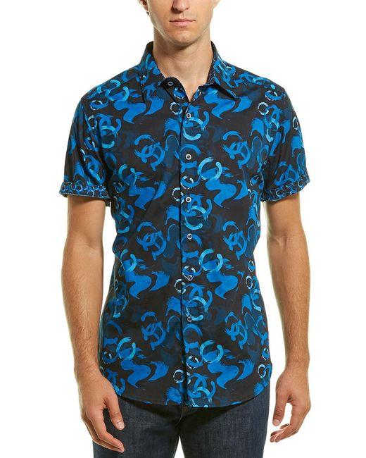 Robert Graham Blue Llyde Classic Fit Woven Shirt for men