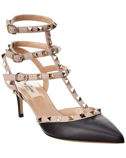 Valentino - Natural Rockstud Studded Leather Pumps - Lyst