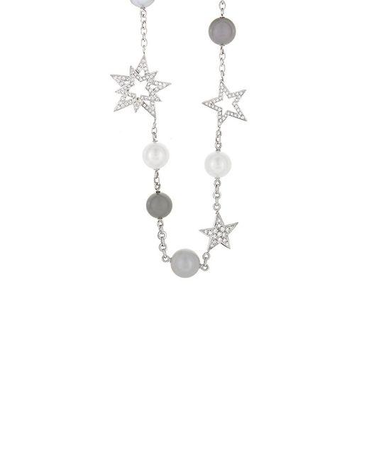 Chanel - Metallic Perles Et Etoiles 18k White Gold 1.33 Ct. Tw. Diamond & Pearl Necklace - Lyst
