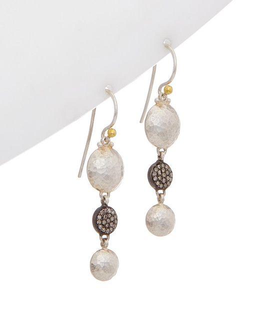 Gurhan - Metallic Lentil 24k & Silver Drop Earrings - Lyst