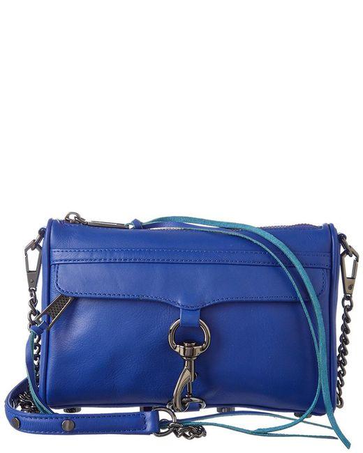 Rebecca Minkoff - Blue Mini Mac Leather Crossbody - Lyst