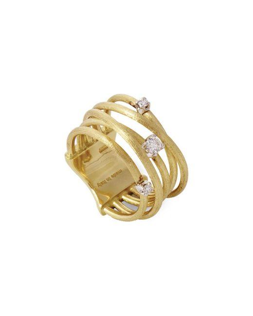 Marco Bicego - Metallic Luce 18k Yellow Gold 0.16 Ct. Tw. Diamond Ring - Lyst