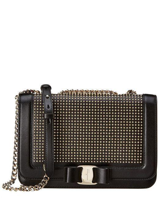 88e7d78d55f2 Lyst - Ferragamo  vara  Shoulder Bag in Black - Save 26%