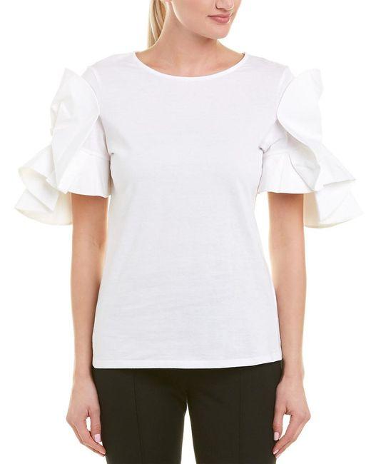Badgley Mischka - White Origami-sleeve Tee - Lyst
