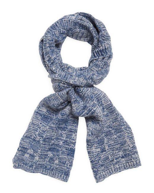 Portolano - Blue Crocheted Scarf - Lyst