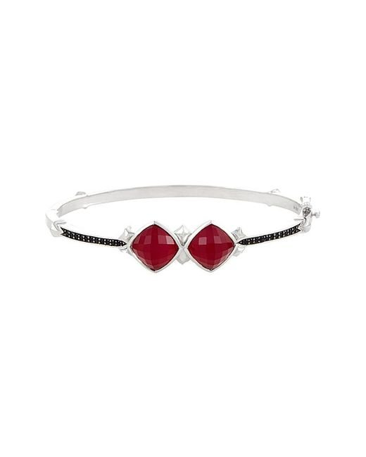 Stephen Webster - Multicolor Silver & Rhodium 0.23 Ct. Tw. Sapphire & Doublet Bangle - Lyst
