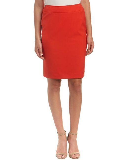 Tahari - Red Tahari Asl Pencil Skirt - Lyst