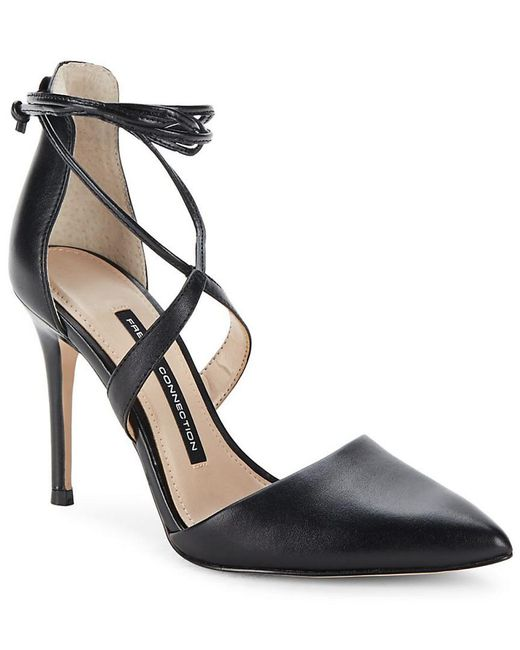 French Connection - Black Elise Strappy Point Toe Pumps - Lyst