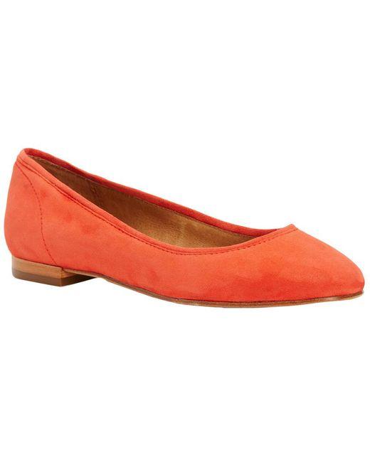 Frye - Red Gloria Suede Ballet Flat - Lyst
