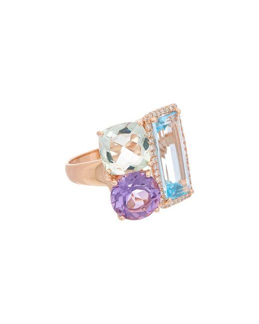 Effy - Metallic Fine Jewelry 14k Rose Gold 9.93 Ct. Tw. Diamond & Gemstone Ring - Lyst
