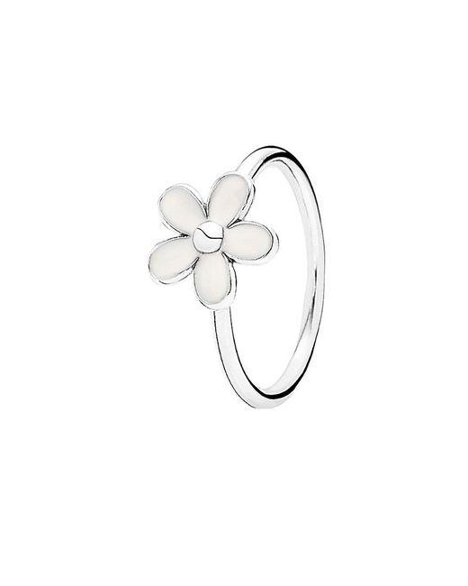 Pandora - Metallic Darling Daisy Silver Enamel Ring - Lyst
