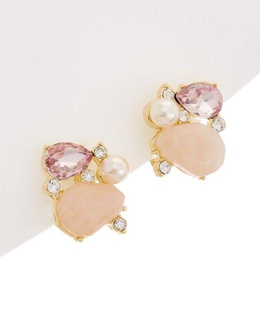 Carolee - Multicolor Garden Party Crystal Clip-on Earrings - Lyst