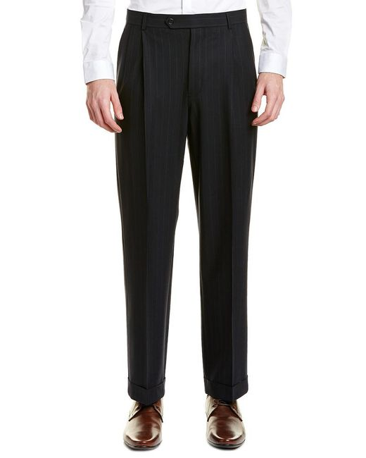 Brooks Brothers - Blue Madison Fit Pleated Wool Blend Trouser for Men - Lyst