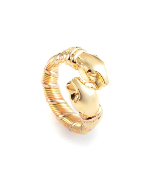 Cartier - Metallic Cartier Panthere 18k Tri-color Ring - Lyst