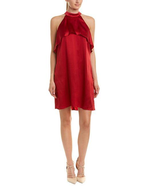 Alice & Trixie - Red Marlow Silk Shift Dress - Lyst