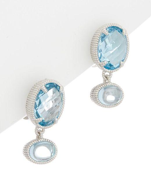 Judith Ripka - Silver 5.69 Ct. Tw. Sky Blue Topaz Drop Earrings - Lyst