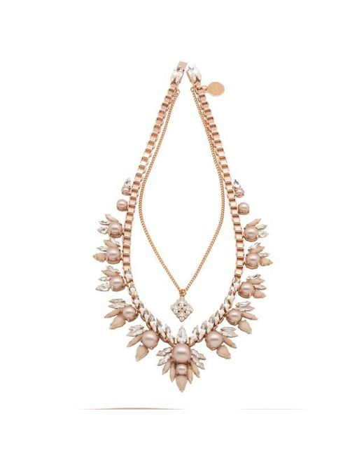 Ellen Conde   Metallic Khloè Rose Gold Necklace   Lyst