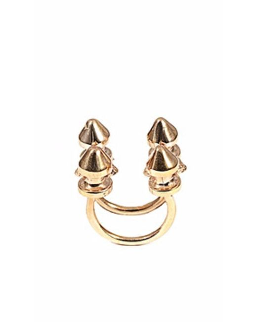 Bernard Delettrez | Metallic Four Stud Bronze Ring | Lyst