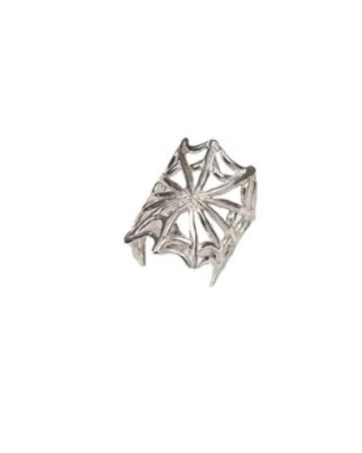 Bernard Delettrez | Metallic Silver Web Ring | Lyst