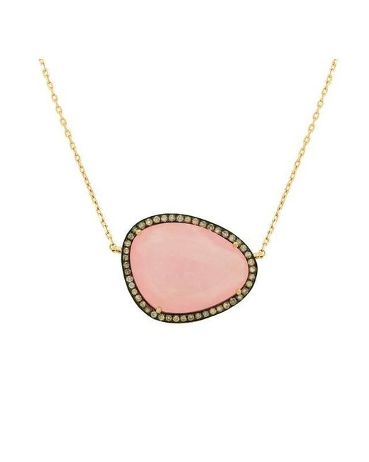 Christina Debs   Hard Candy Pink Jade And Diamond Necklace   Lyst