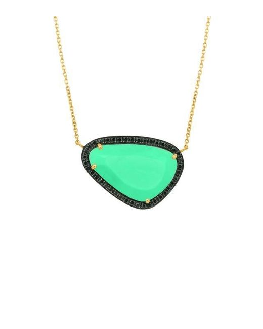 Christina Debs | Green Hard Candy Chrysoprase And Diamond Necklace | Lyst