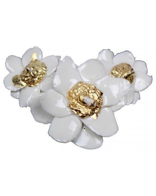 Plakinger | White Grand Flower Shaped Brooch | Lyst