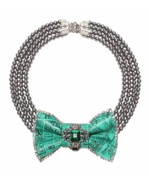 Bijoux De Famille | Blue Luxembourg Bow Necklace | Lyst