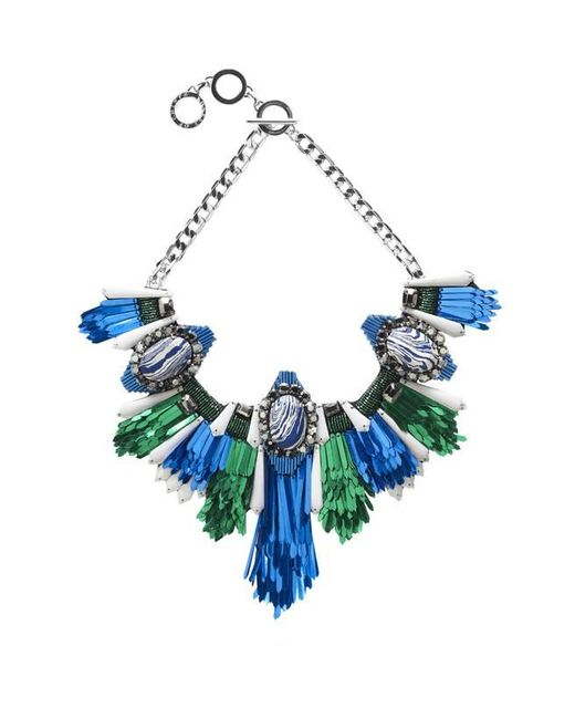 Forest Of Chintz | Disco Jungle Blue Green Fringe Necklace | Lyst