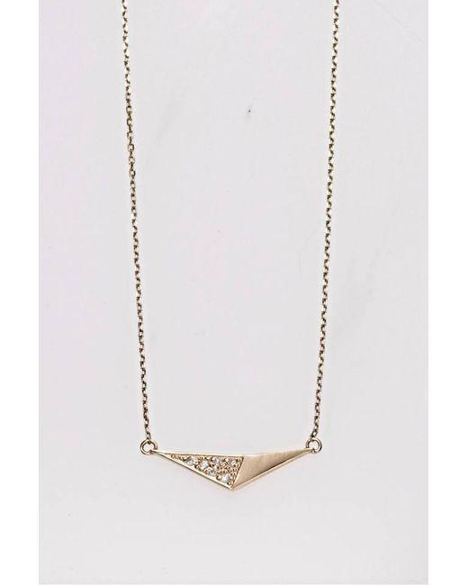 Liza Belachew | Metallic Share The Art Diamond No5 Necklace | Lyst