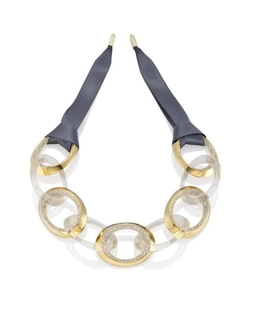 Yael Salomon | Metallic Links 03 Gold And Resin Necklace | Lyst