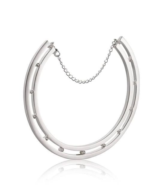 Yael Salomon | Metallic Stelle 06 Silver And Crystal Choker Necklace | Lyst