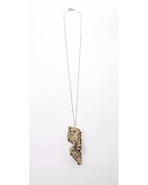 Noritamy | Metallic Baru Gold Pendant Necklace | Lyst