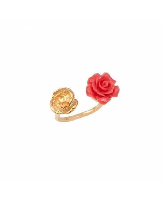 Leivan Kash | Red Rose Double Ring | Lyst