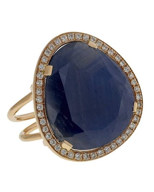 Christina Debs | Blue Hard Candy Sapphire And Diamond Ring | Lyst