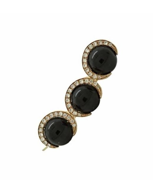 Christina Debs | Black Candy Pop Onyx And Diamond Crawler Ear Cuff | Lyst