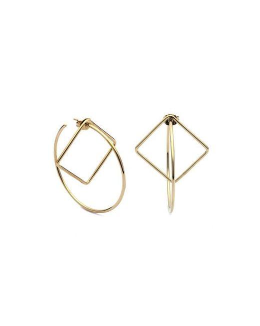 Caterina Zangrando   Metallic Pan Geo Gold Plated Earrings   Lyst