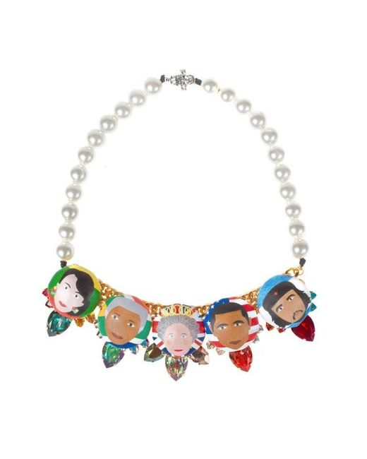 Bijoux De Famille | Multicolor Rule Me Plastron Necklace | Lyst
