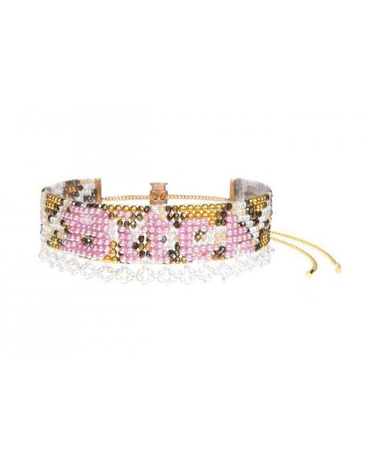 "Bijoux De Famille   Pink ""bitch"" Pearl Cuff Necklace   Lyst"