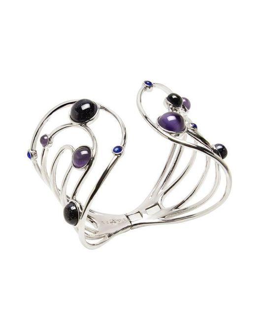 Eshvi | Purple Astro 11c White Rhodium Blue Cabochon Cuff | Lyst