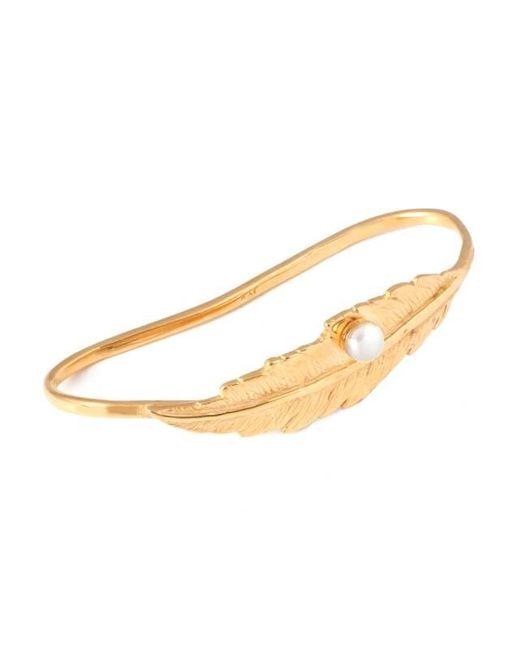 Leivan Kash | Metallic Feather Pearl Hand Cuff | Lyst