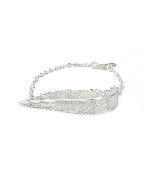 Leivan Kash | Metallic Feather Chain Bracelet | Lyst