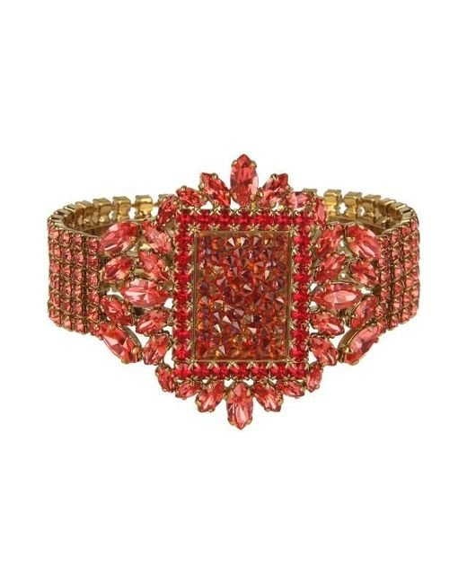 Otazu 14kt Gold-plated Bracelet With Crystal Red Swarovski ...