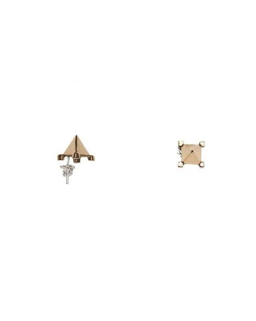 Bernard Delettrez | Metallic Pyramid Stud Earrings Bronze | Lyst