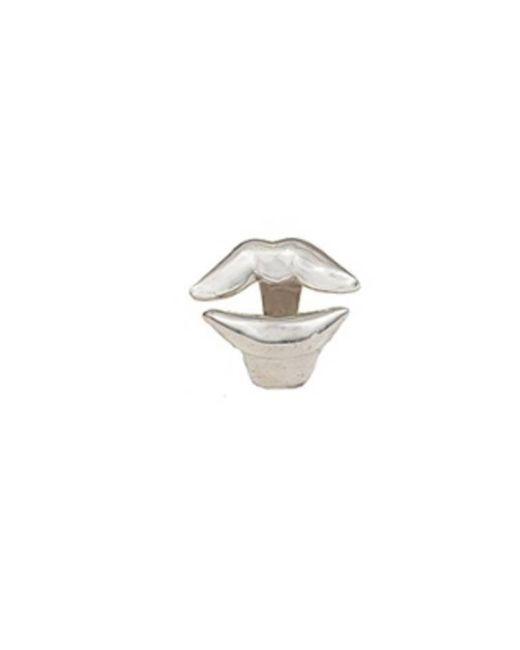 Bernard Delettrez | Metallic Lips Silver Ring | Lyst