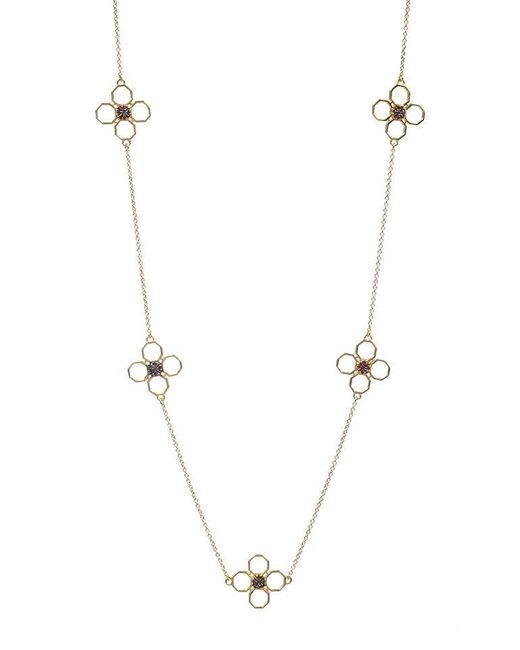 Madstone | Metallic Mini M8 Station Red Gold Necklace | Lyst