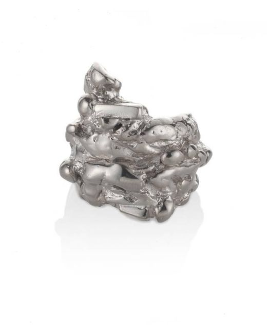 Noritamy - Metallic Fogo Silver Ring - Lyst