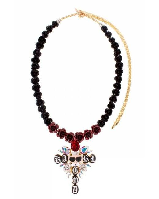 Bijoux De Famille | Multicolor Karl Is God Rosary Necklace | Lyst